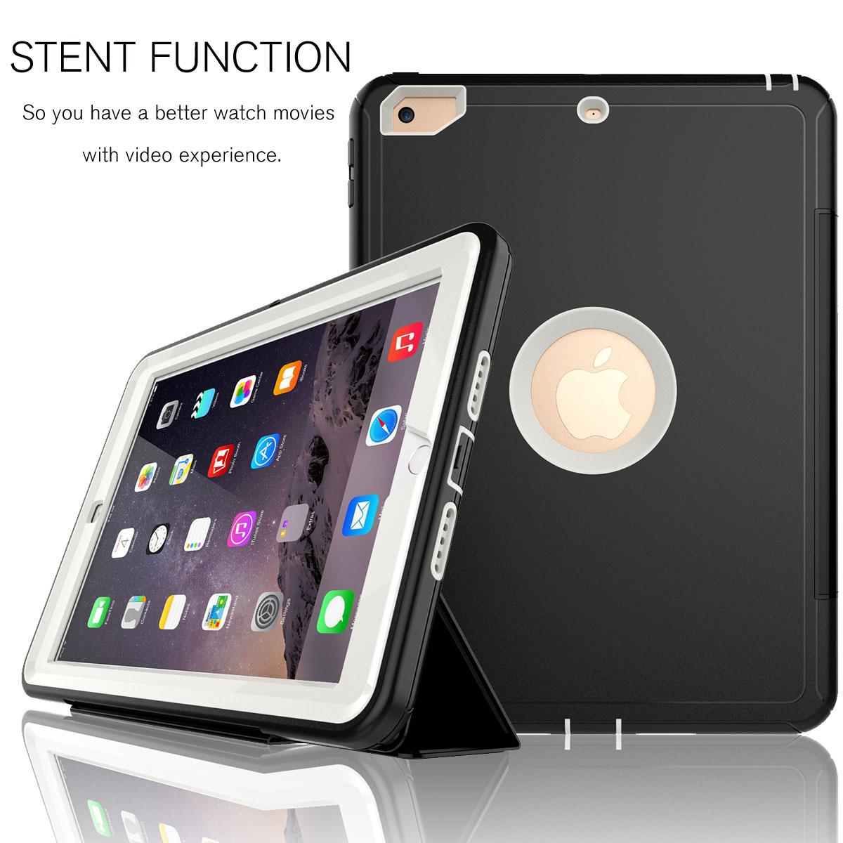 for ipad 9 7 2018 2017 6th gen shockproof full protective. Black Bedroom Furniture Sets. Home Design Ideas