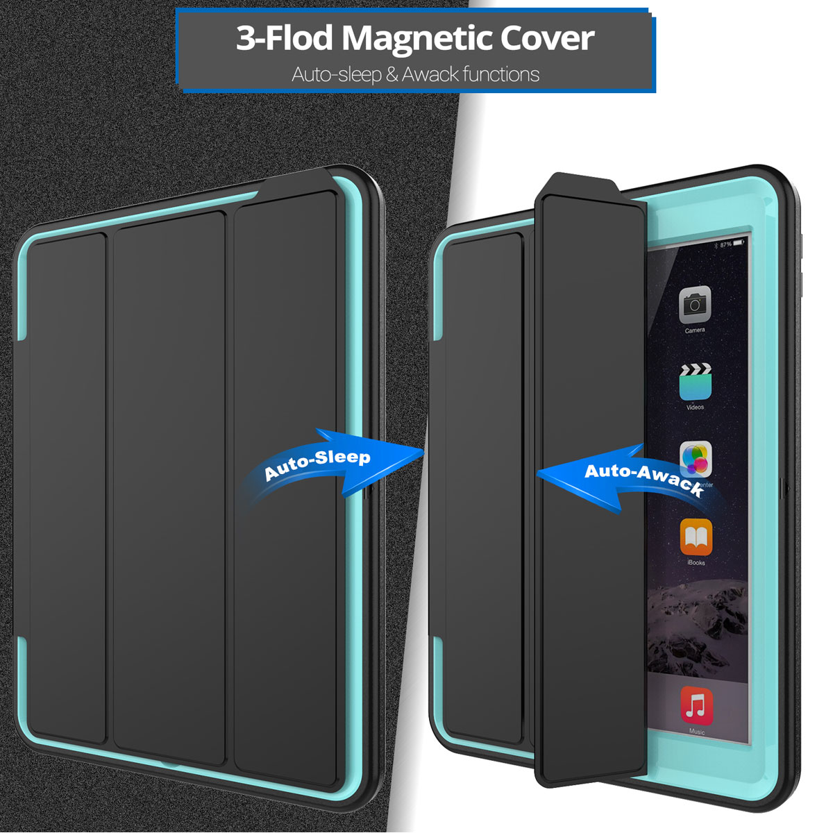 flip shockproof stand case smart cover for new ipad 9 7 2017 5th gen a1822 1823 ebay. Black Bedroom Furniture Sets. Home Design Ideas
