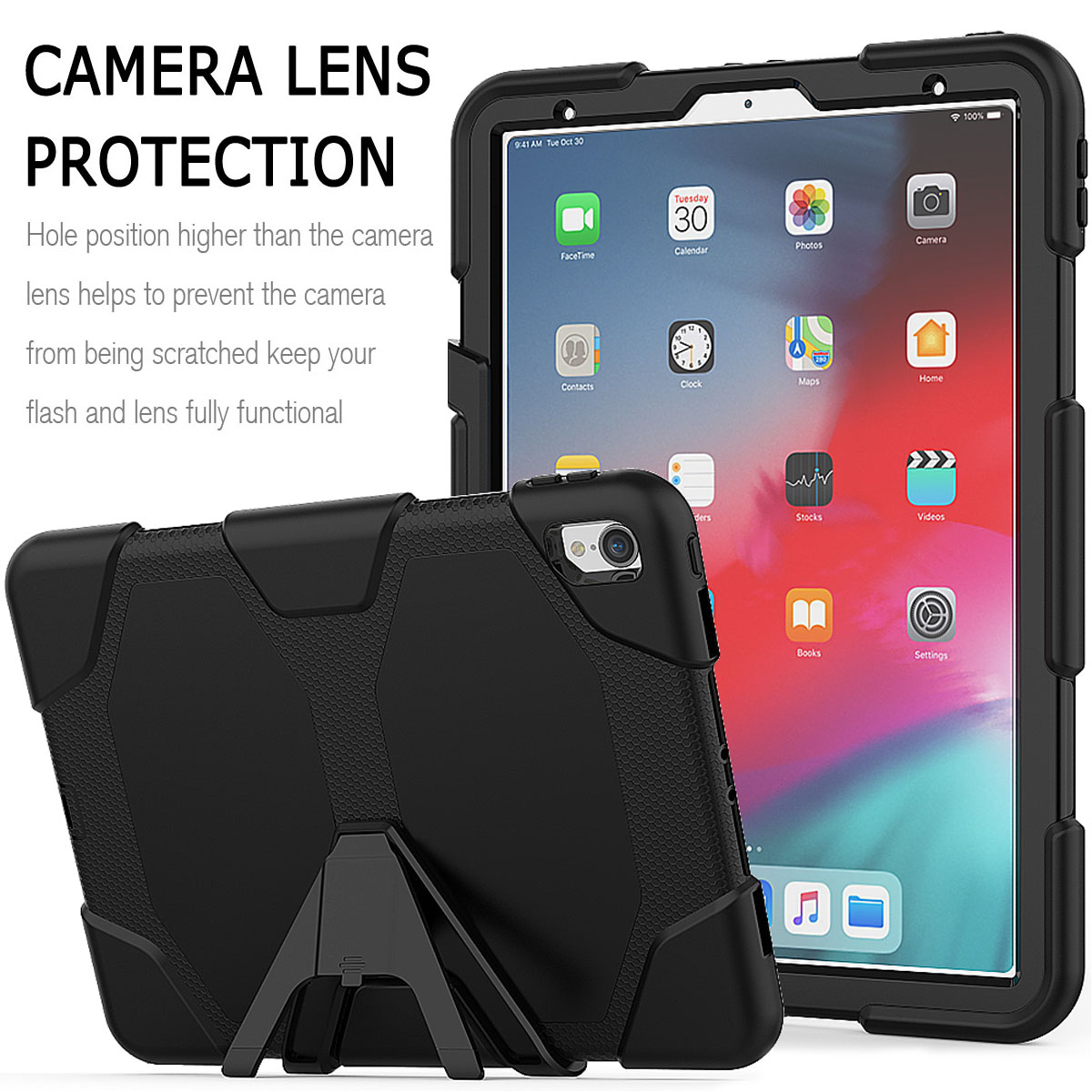 For-Apple-iPad-Pro-11-034-Inch-2018-with-Screen-Protector-Shockproof-Hybrid-Case thumbnail 17