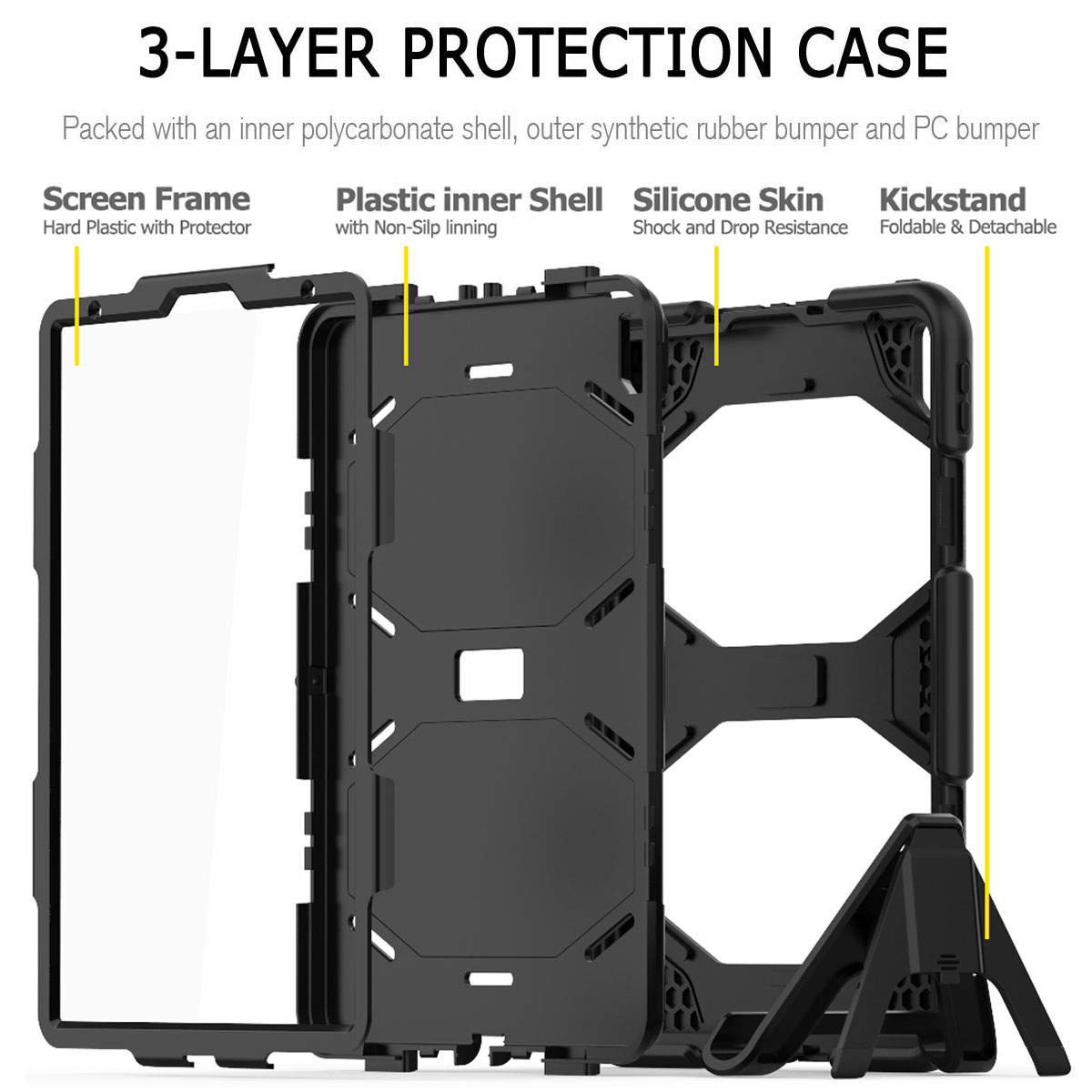 For-Apple-iPad-Pro-11-034-Inch-2018-with-Screen-Protector-Shockproof-Hybrid-Case thumbnail 14