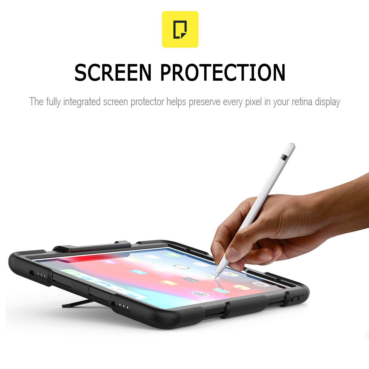 For-Apple-iPad-Pro-11-034-Inch-2018-with-Screen-Protector-Shockproof-Hybrid-Case thumbnail 16