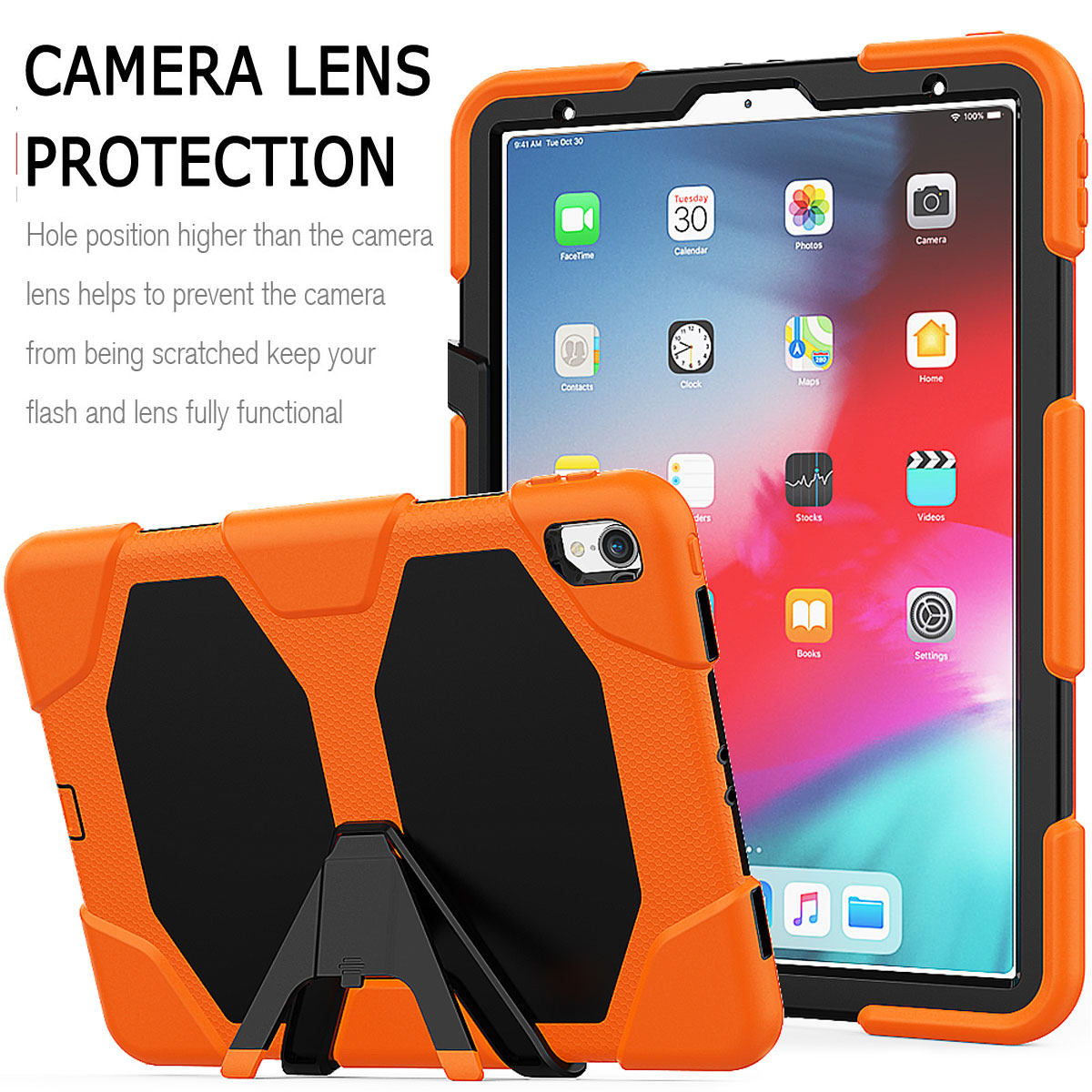 For-Apple-iPad-Pro-11-034-Inch-2018-with-Screen-Protector-Shockproof-Hybrid-Case thumbnail 24