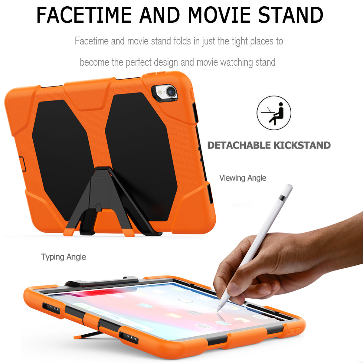 For-Apple-iPad-Pro-11-034-Inch-2018-with-Screen-Protector-Shockproof-Hybrid-Case thumbnail 22