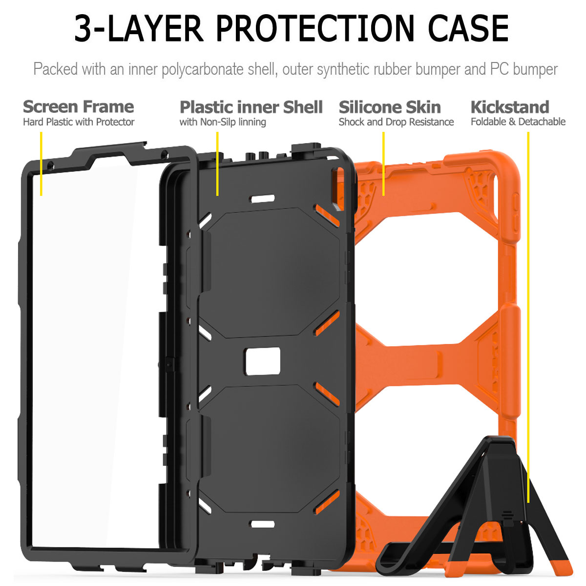 For-Apple-iPad-Pro-11-034-Inch-2018-with-Screen-Protector-Shockproof-Hybrid-Case thumbnail 21