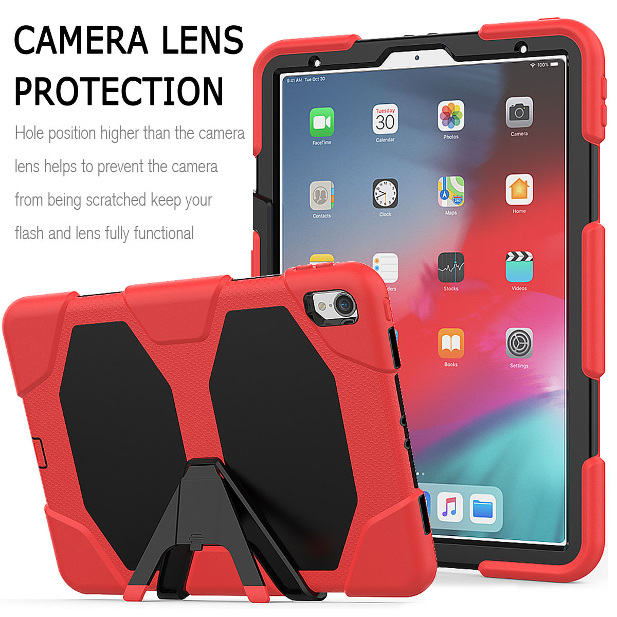 For-Apple-iPad-Pro-11-034-Inch-2018-with-Screen-Protector-Shockproof-Hybrid-Case thumbnail 31