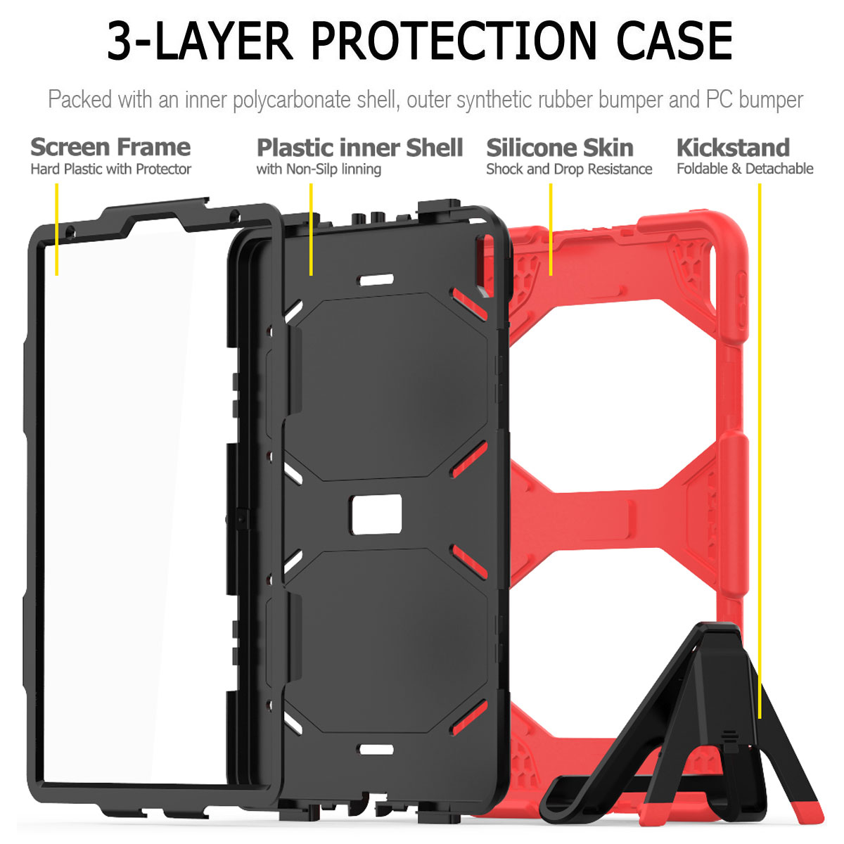 For-Apple-iPad-Pro-11-034-Inch-2018-with-Screen-Protector-Shockproof-Hybrid-Case thumbnail 28