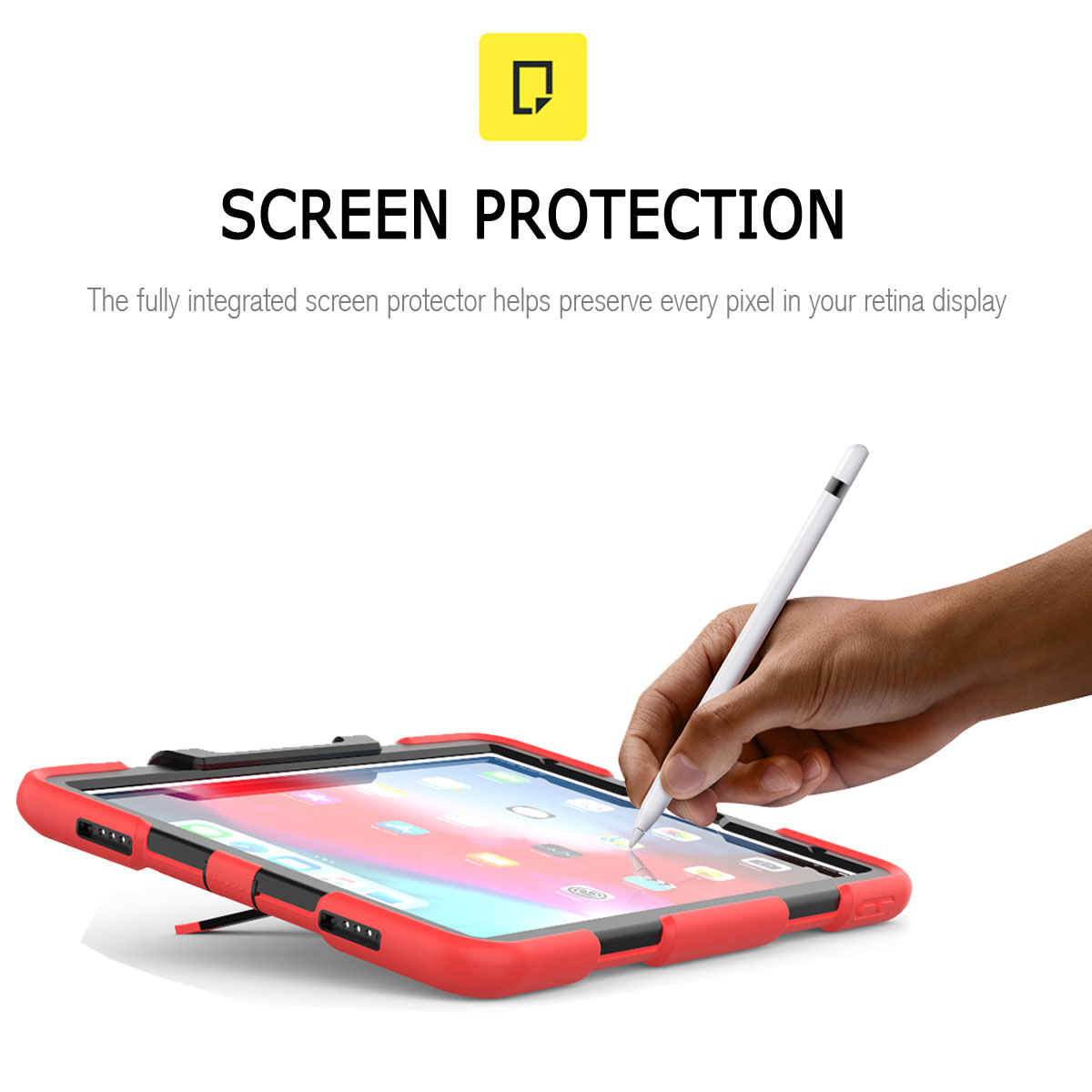 For-Apple-iPad-Pro-11-034-Inch-2018-with-Screen-Protector-Shockproof-Hybrid-Case thumbnail 30