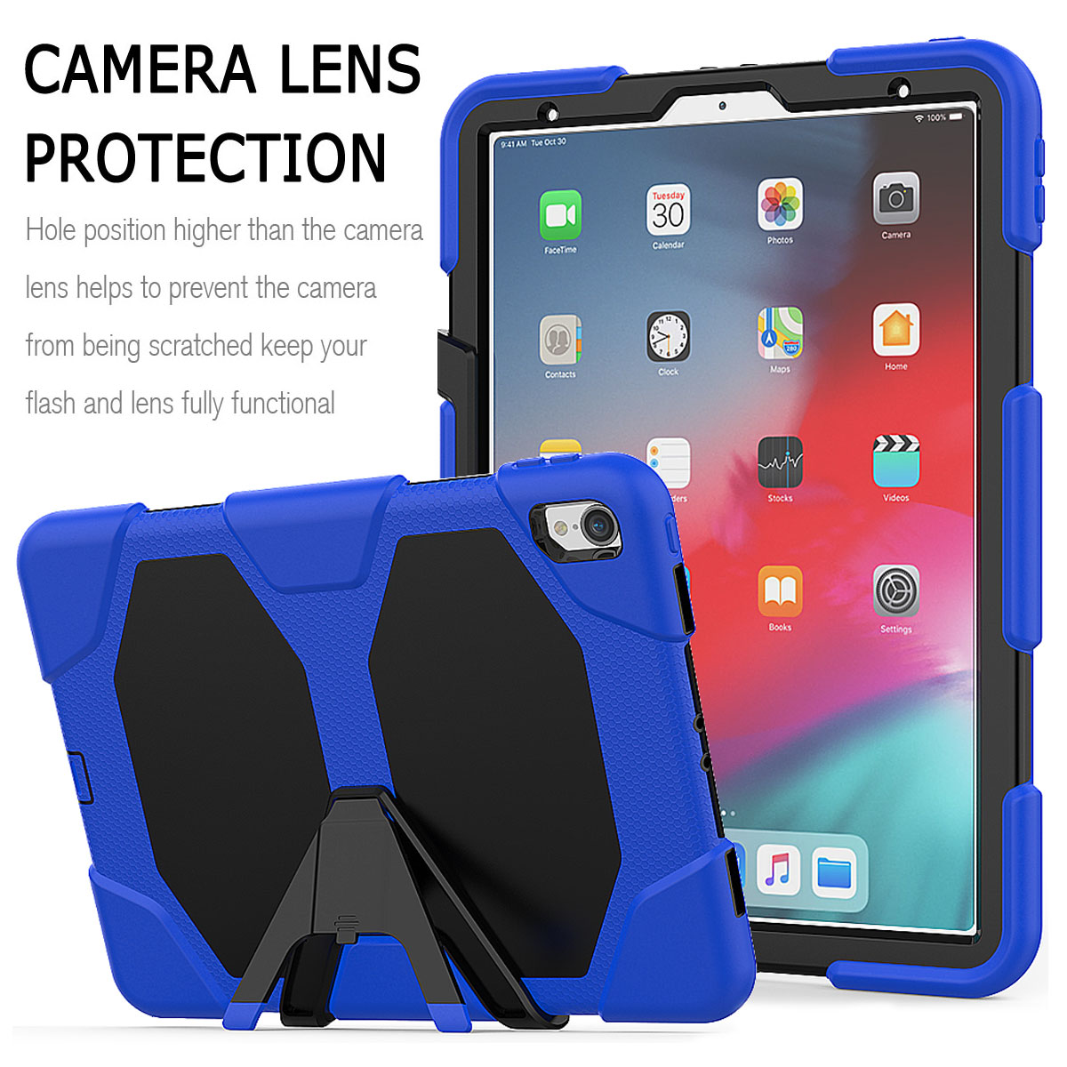 For-Apple-iPad-Pro-11-034-Inch-2018-with-Screen-Protector-Shockproof-Hybrid-Case thumbnail 38