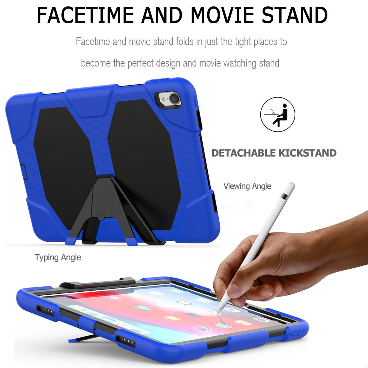 For-Apple-iPad-Pro-11-034-Inch-2018-with-Screen-Protector-Shockproof-Hybrid-Case thumbnail 36