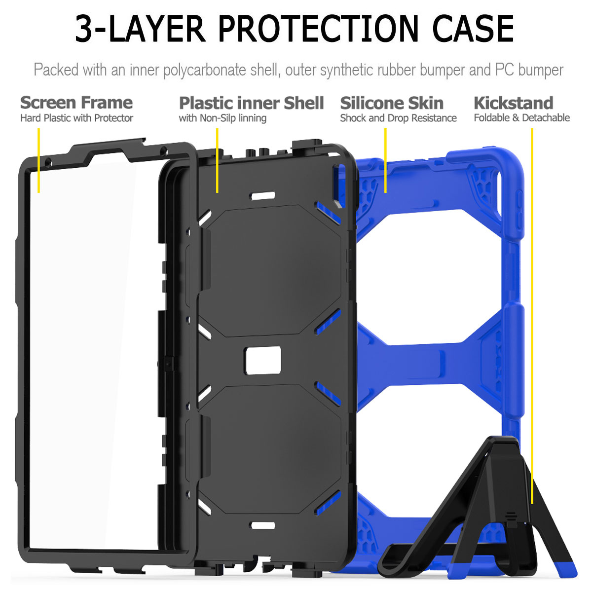 For-Apple-iPad-Pro-11-034-Inch-2018-with-Screen-Protector-Shockproof-Hybrid-Case thumbnail 35