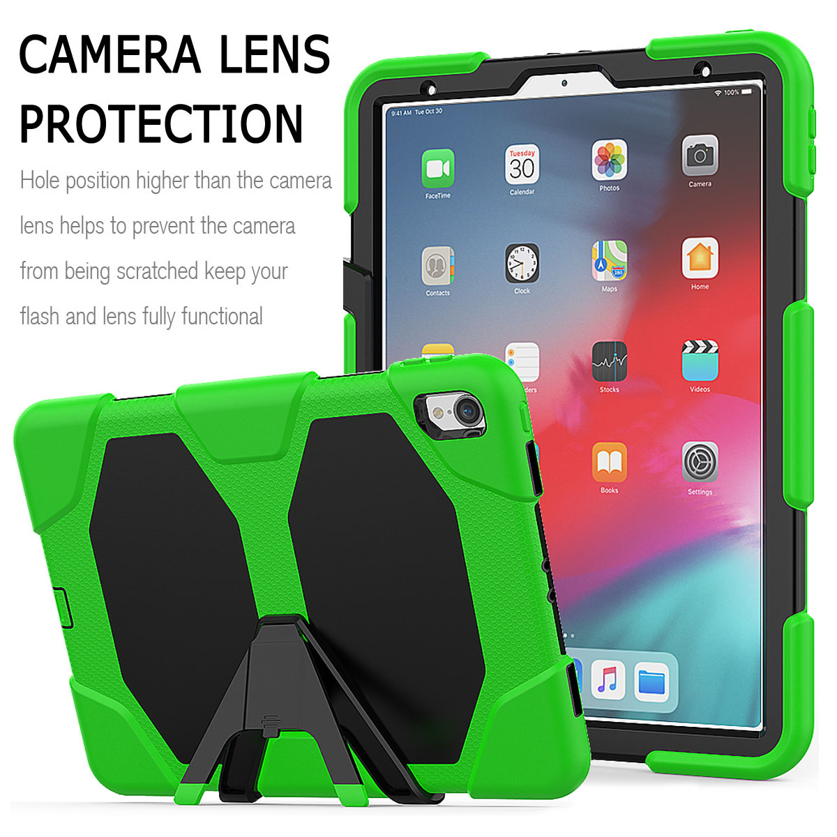 For-Apple-iPad-Pro-11-034-Inch-2018-with-Screen-Protector-Shockproof-Hybrid-Case thumbnail 45