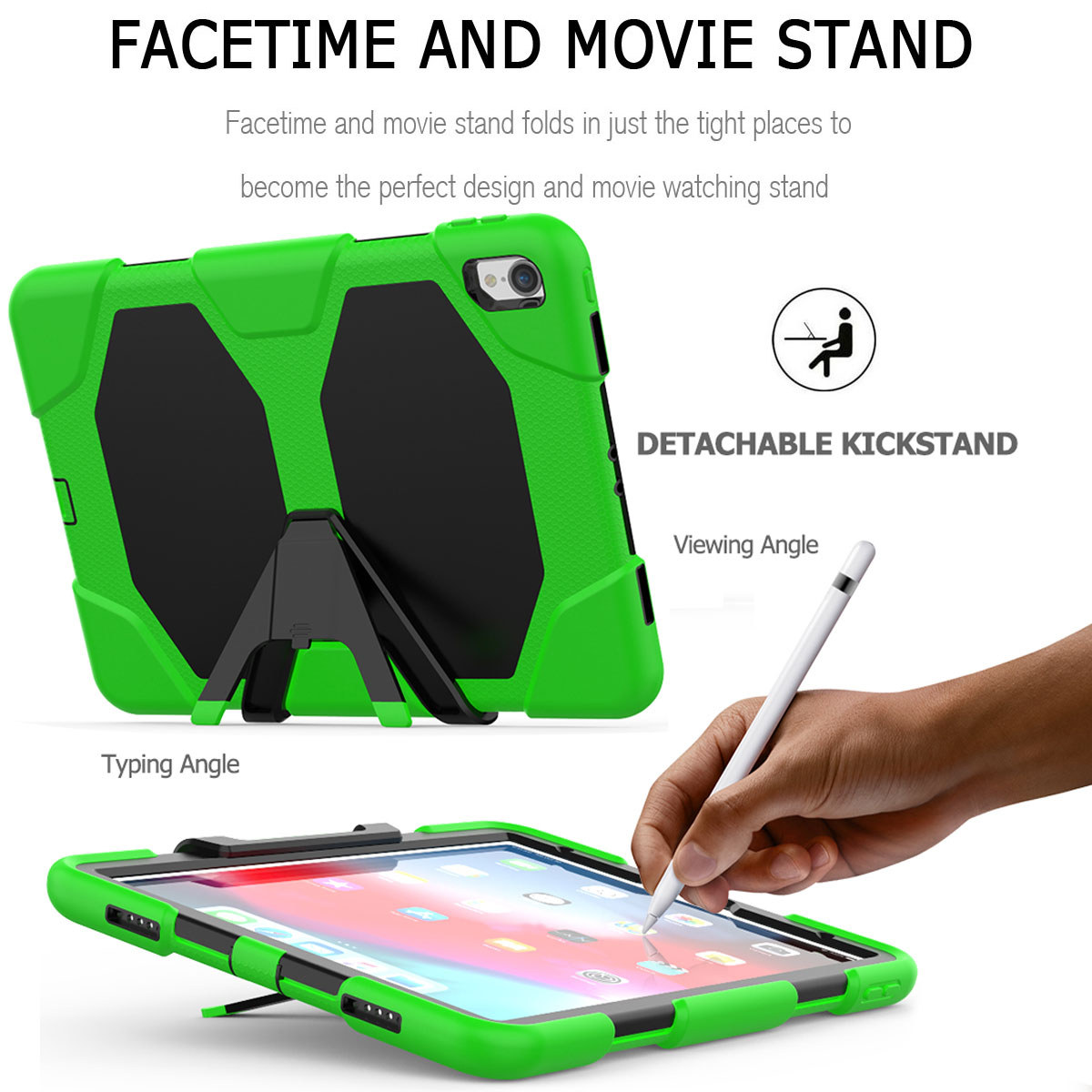 For-Apple-iPad-Pro-11-034-Inch-2018-with-Screen-Protector-Shockproof-Hybrid-Case thumbnail 43