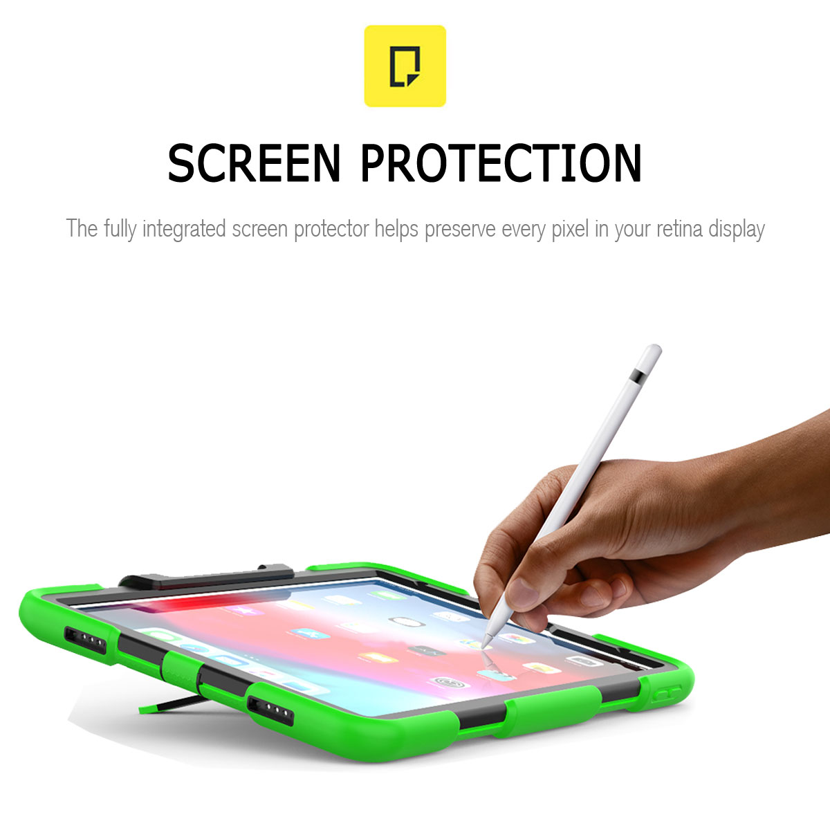 For-Apple-iPad-Pro-11-034-Inch-2018-with-Screen-Protector-Shockproof-Hybrid-Case thumbnail 44