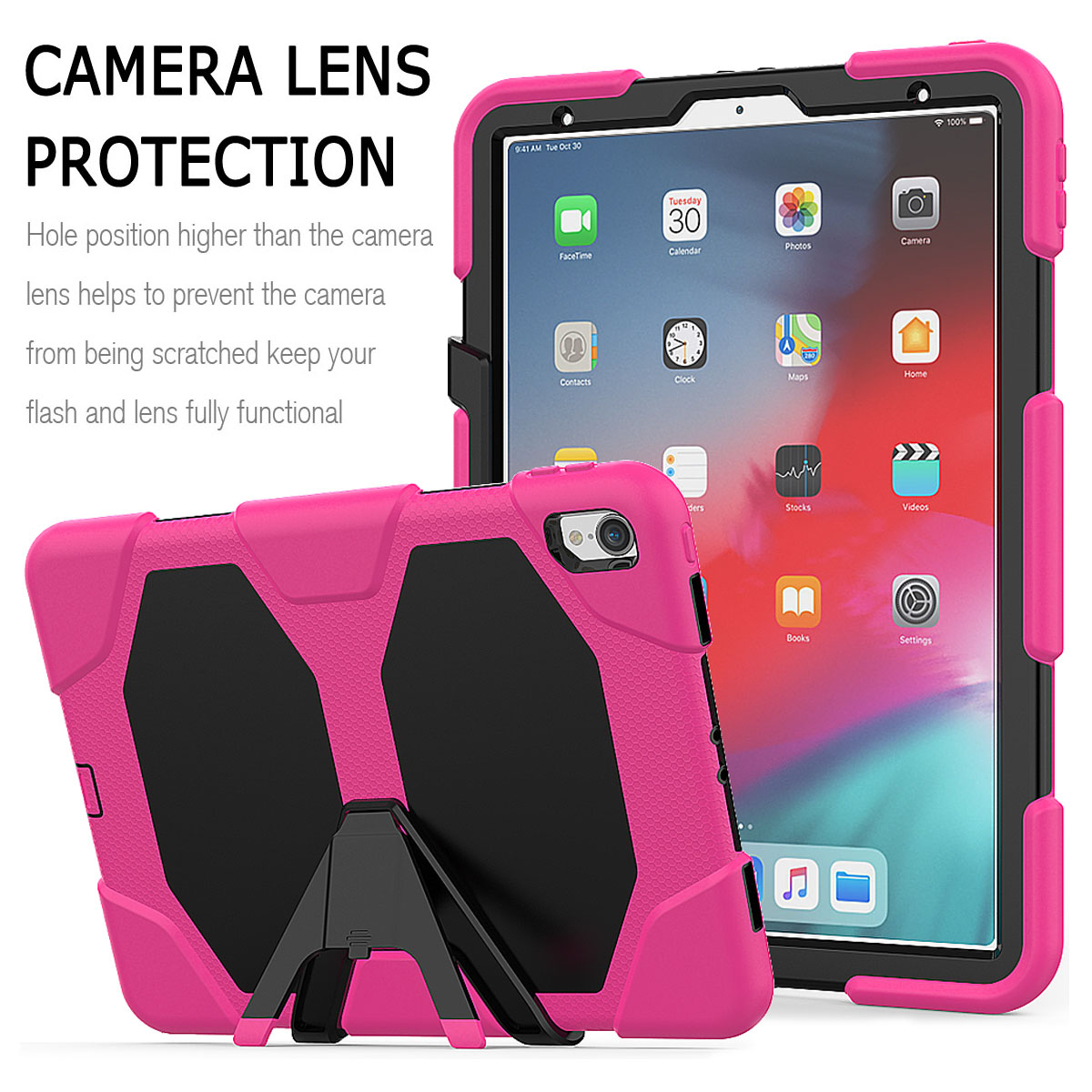 For-Apple-iPad-Pro-11-034-Inch-2018-with-Screen-Protector-Shockproof-Hybrid-Case thumbnail 52