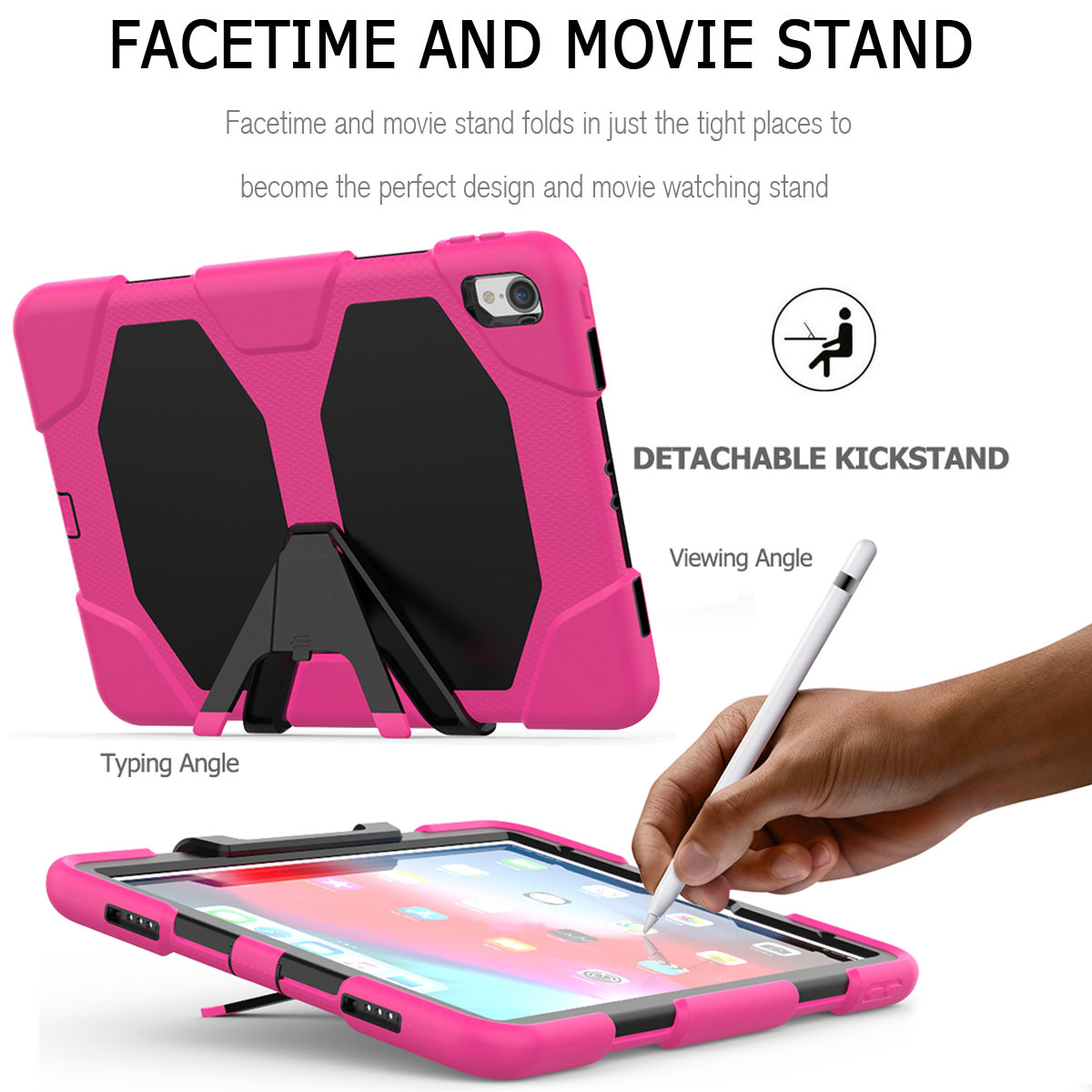 For-Apple-iPad-Pro-11-034-Inch-2018-with-Screen-Protector-Shockproof-Hybrid-Case thumbnail 50