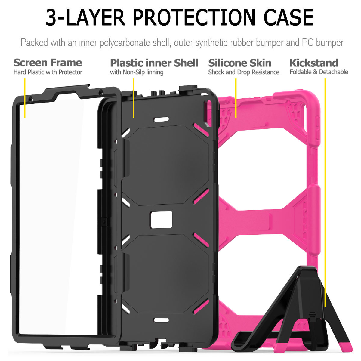 For-Apple-iPad-Pro-11-034-Inch-2018-with-Screen-Protector-Shockproof-Hybrid-Case thumbnail 49