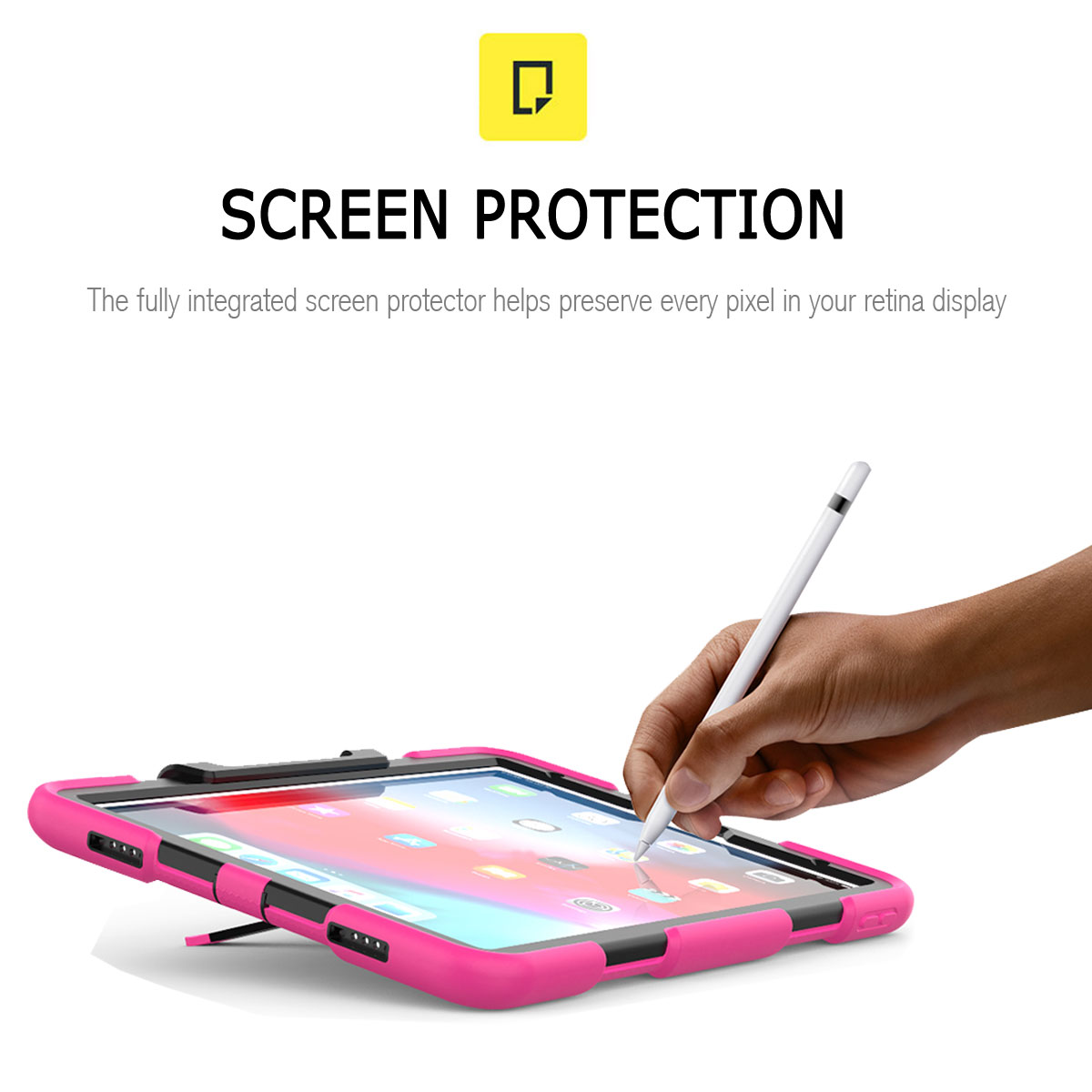 For-Apple-iPad-Pro-11-034-Inch-2018-with-Screen-Protector-Shockproof-Hybrid-Case thumbnail 51