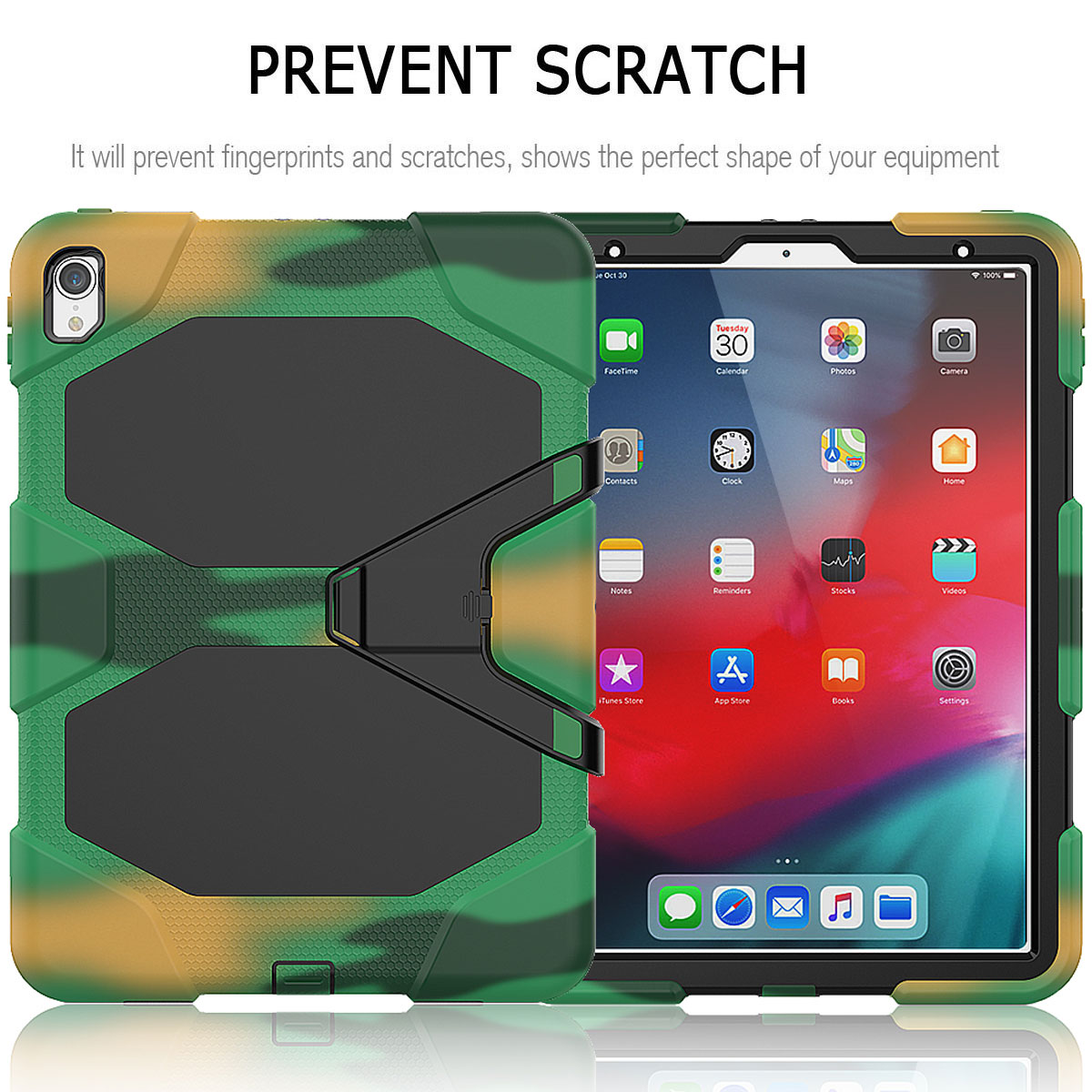 For-Apple-iPad-Pro-11-034-Inch-2018-with-Screen-Protector-Shockproof-Hybrid-Case thumbnail 60