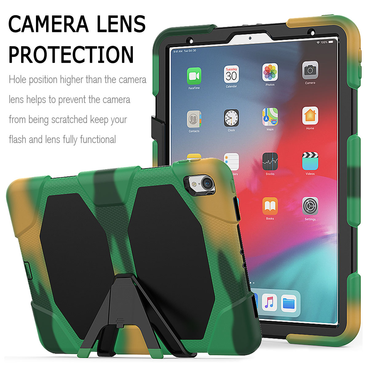 For-Apple-iPad-Pro-11-034-Inch-2018-with-Screen-Protector-Shockproof-Hybrid-Case thumbnail 59
