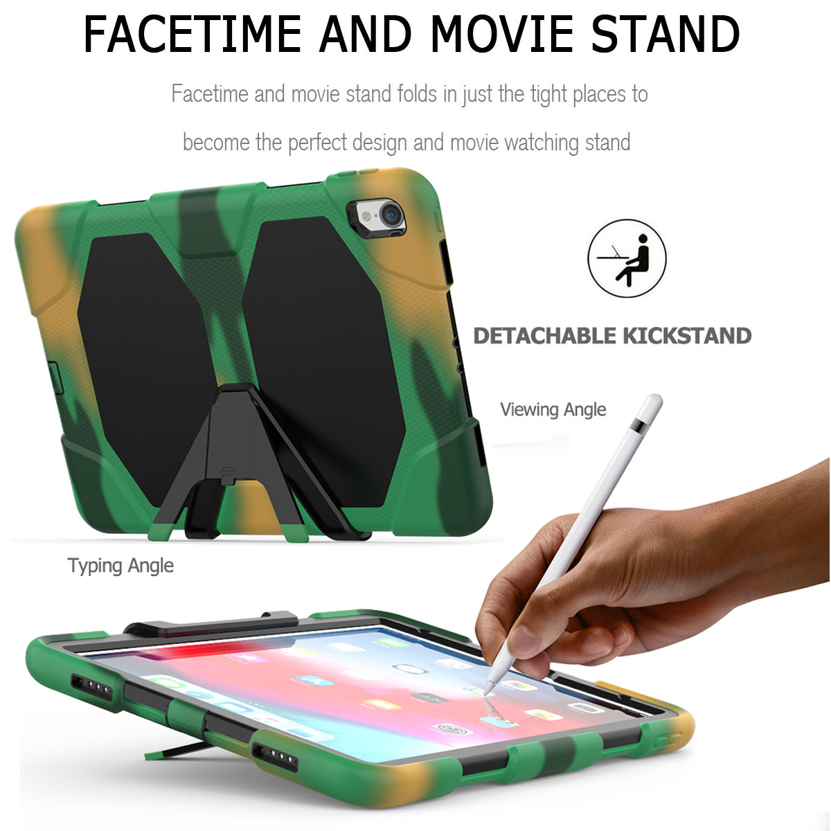 For-Apple-iPad-Pro-11-034-Inch-2018-with-Screen-Protector-Shockproof-Hybrid-Case thumbnail 57