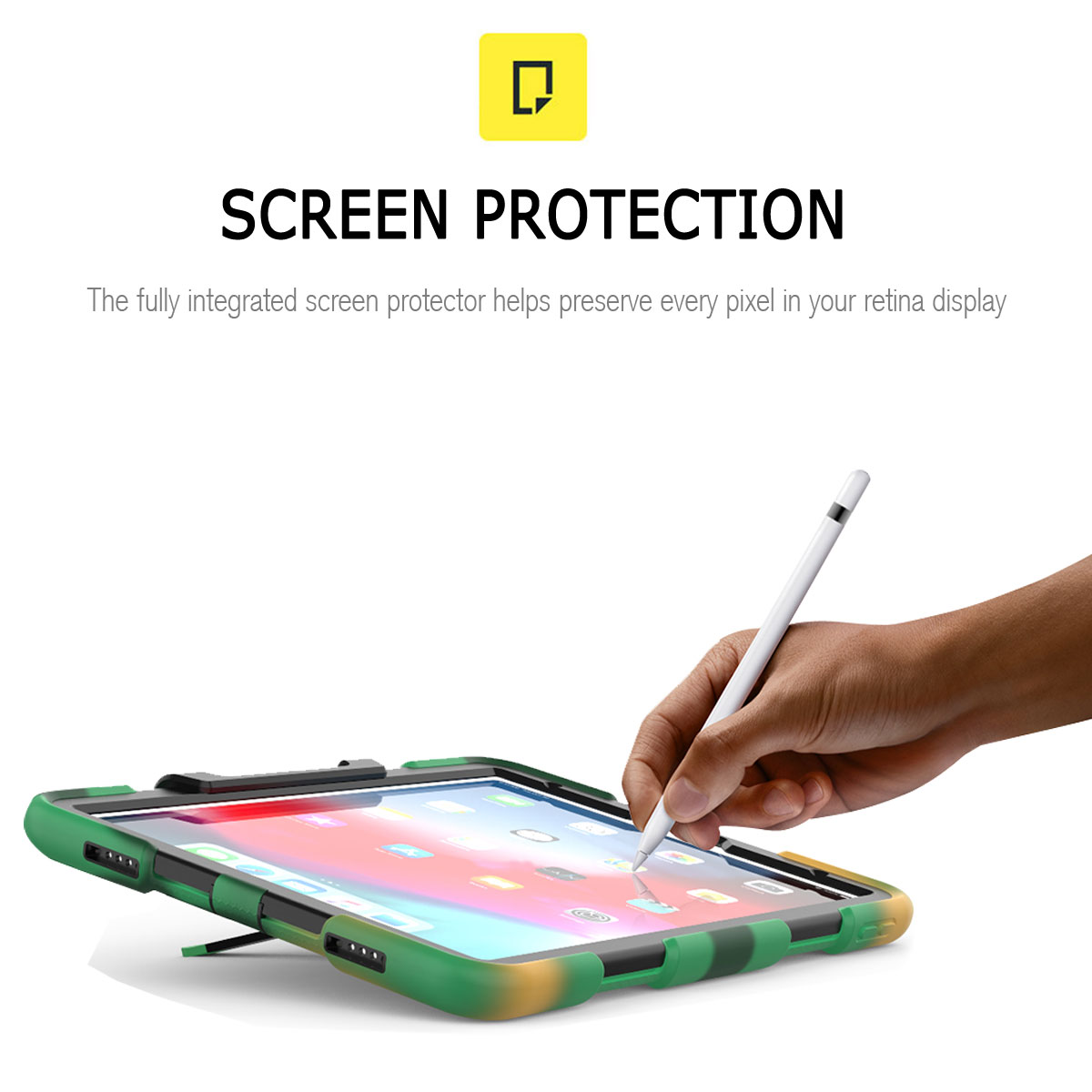 For-Apple-iPad-Pro-11-034-Inch-2018-with-Screen-Protector-Shockproof-Hybrid-Case thumbnail 58