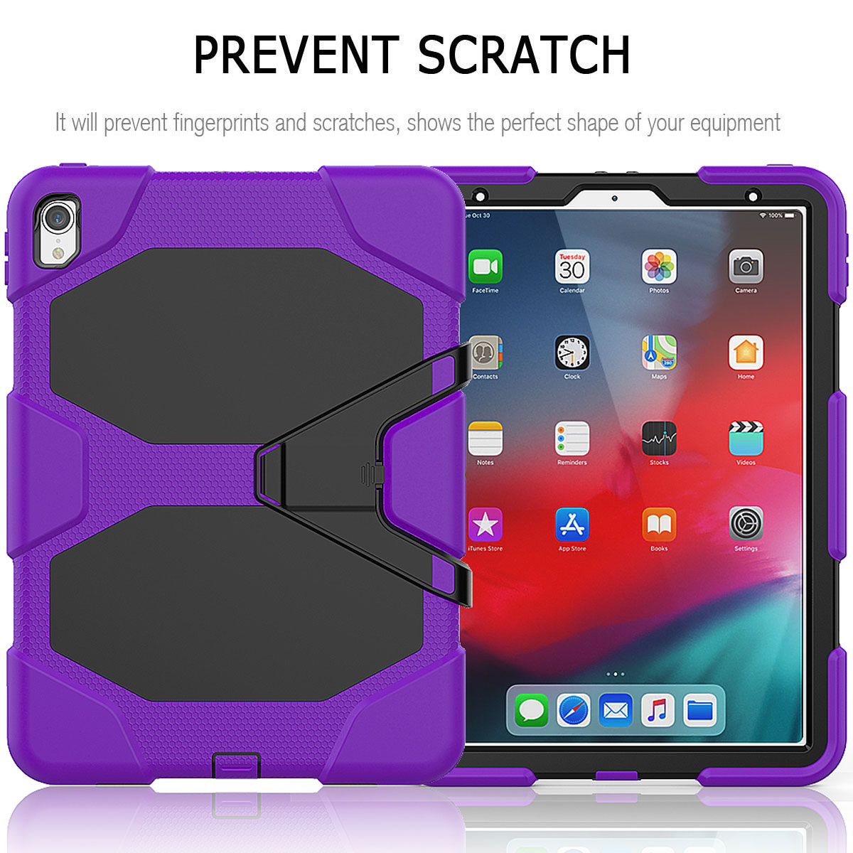 For-Apple-iPad-Pro-11-034-Inch-2018-with-Screen-Protector-Shockproof-Hybrid-Case thumbnail 67