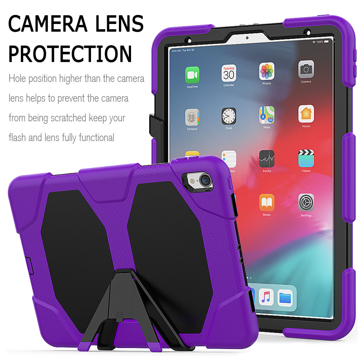 For-Apple-iPad-Pro-11-034-Inch-2018-with-Screen-Protector-Shockproof-Hybrid-Case thumbnail 66