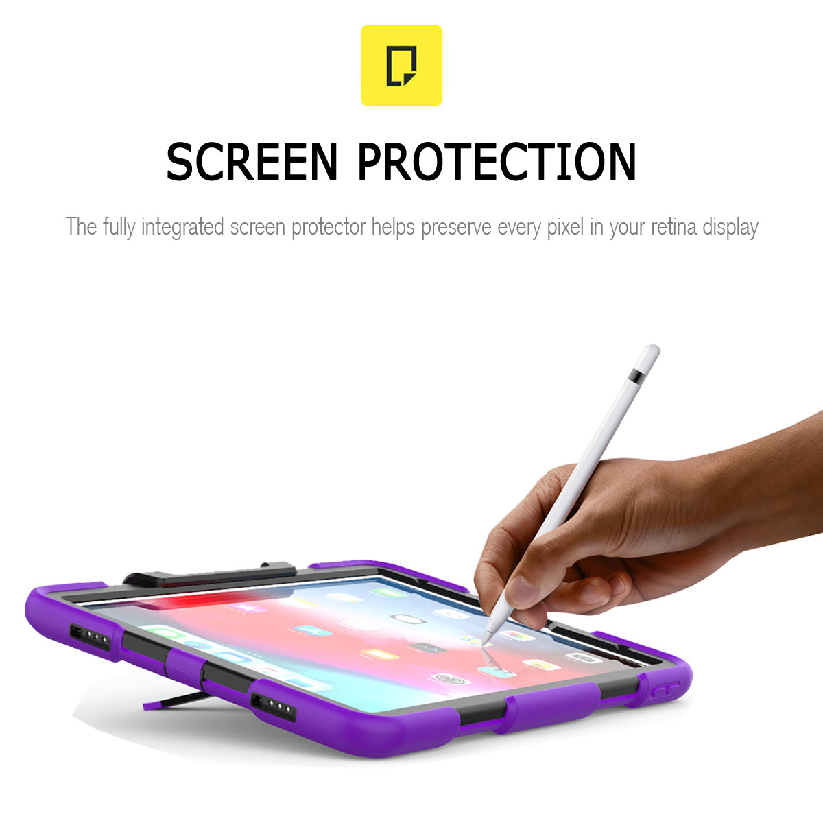For-Apple-iPad-Pro-11-034-Inch-2018-with-Screen-Protector-Shockproof-Hybrid-Case thumbnail 65