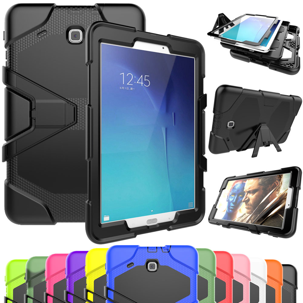 more photos d79dc 9ff0e Details about Rugged Shockproof Heavy Kickstand Case Cover For Samsung Tab  E 9.6 T560 8.0 T377