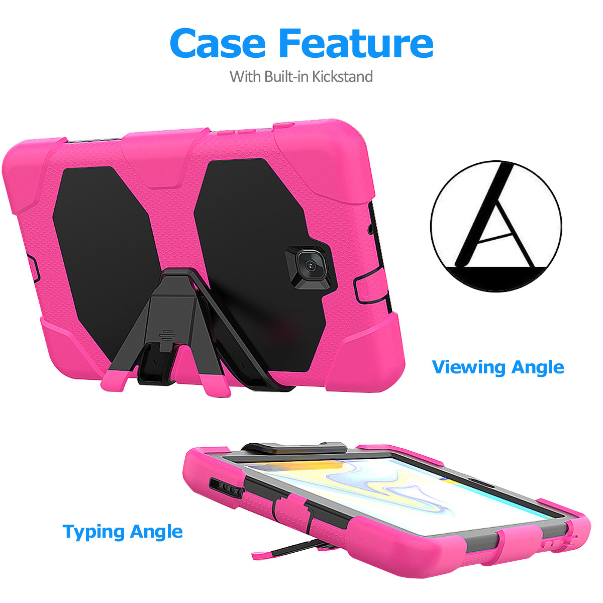 Rugged-Hard-Case-For-Samsung-Galaxy-Tab-A-8-0-2018-SM-T387-with-Screen-Protector thumbnail 15