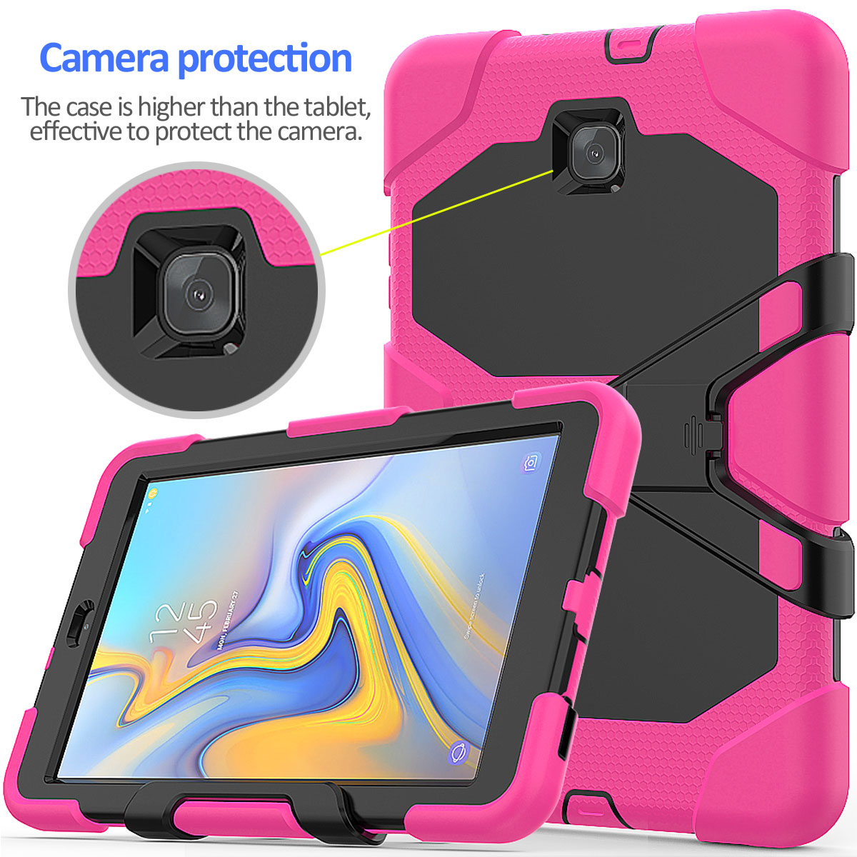 Rugged-Hard-Case-For-Samsung-Galaxy-Tab-A-8-0-2018-SM-T387-with-Screen-Protector thumbnail 16