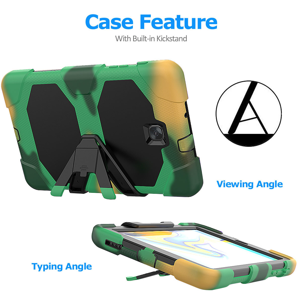 Rugged-Hard-Case-For-Samsung-Galaxy-Tab-A-8-0-2018-SM-T387-with-Screen-Protector thumbnail 22