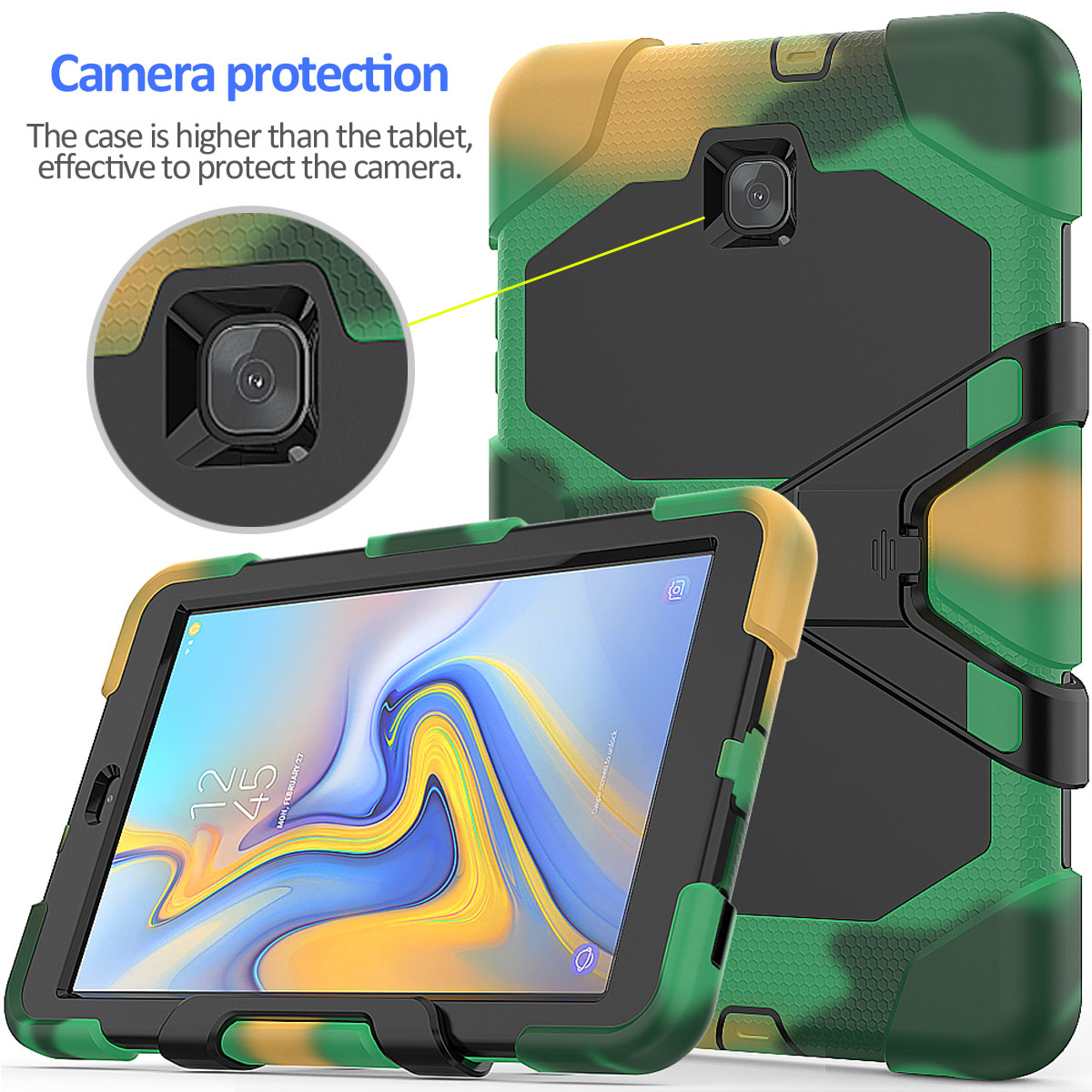 Rugged-Hard-Case-For-Samsung-Galaxy-Tab-A-8-0-2018-SM-T387-with-Screen-Protector thumbnail 23