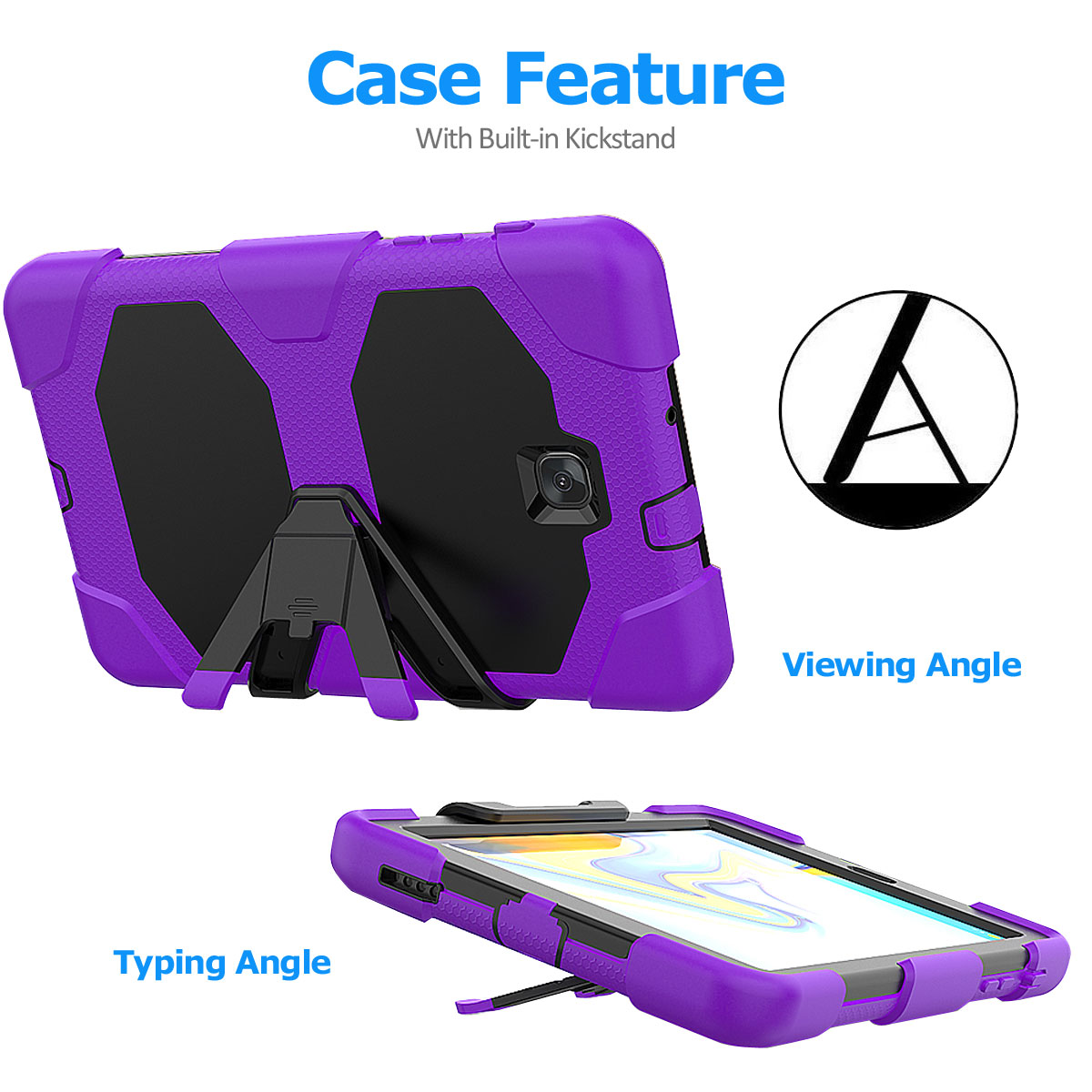 Rugged-Hard-Case-For-Samsung-Galaxy-Tab-A-8-0-2018-SM-T387-with-Screen-Protector thumbnail 29