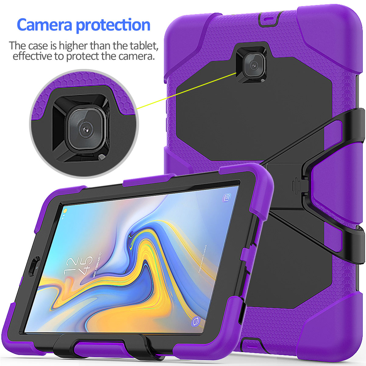 Rugged-Hard-Case-For-Samsung-Galaxy-Tab-A-8-0-2018-SM-T387-with-Screen-Protector thumbnail 30