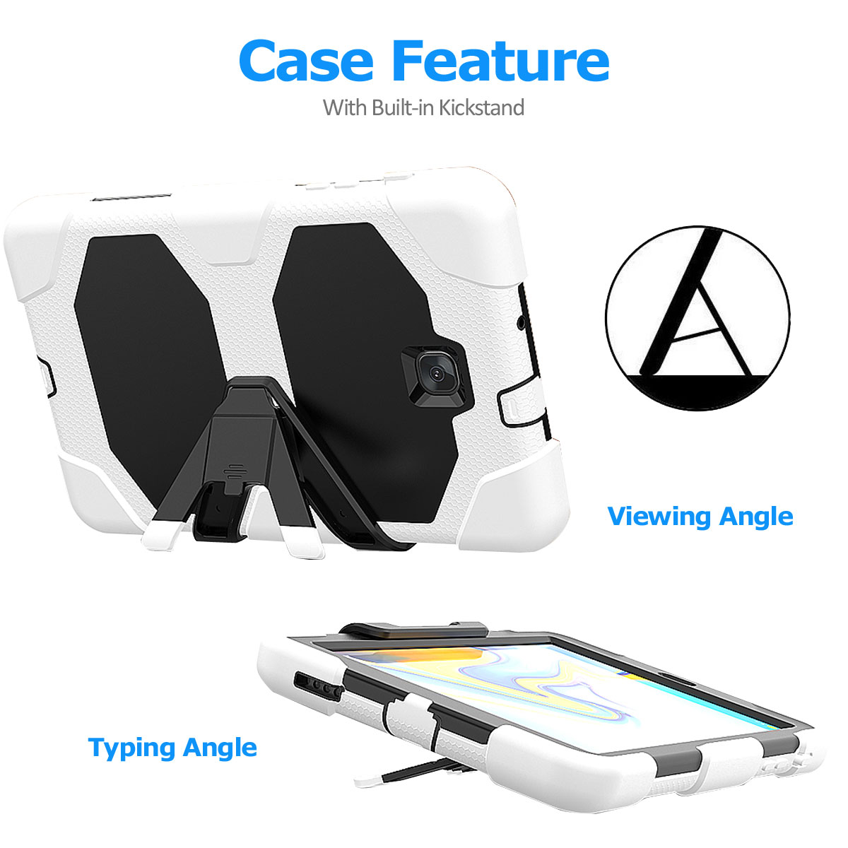 Rugged-Hard-Case-For-Samsung-Galaxy-Tab-A-8-0-2018-SM-T387-with-Screen-Protector thumbnail 36