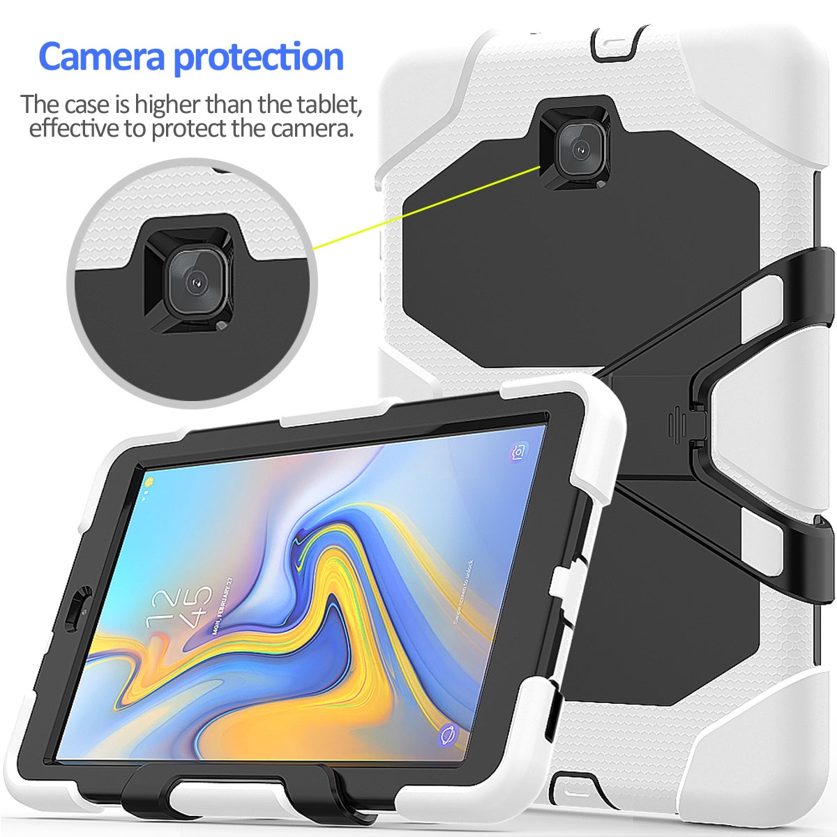 Rugged-Hard-Case-For-Samsung-Galaxy-Tab-A-8-0-2018-SM-T387-with-Screen-Protector thumbnail 37