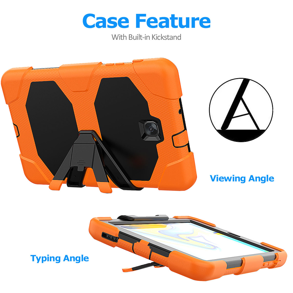Rugged-Hard-Case-For-Samsung-Galaxy-Tab-A-8-0-2018-SM-T387-with-Screen-Protector thumbnail 43