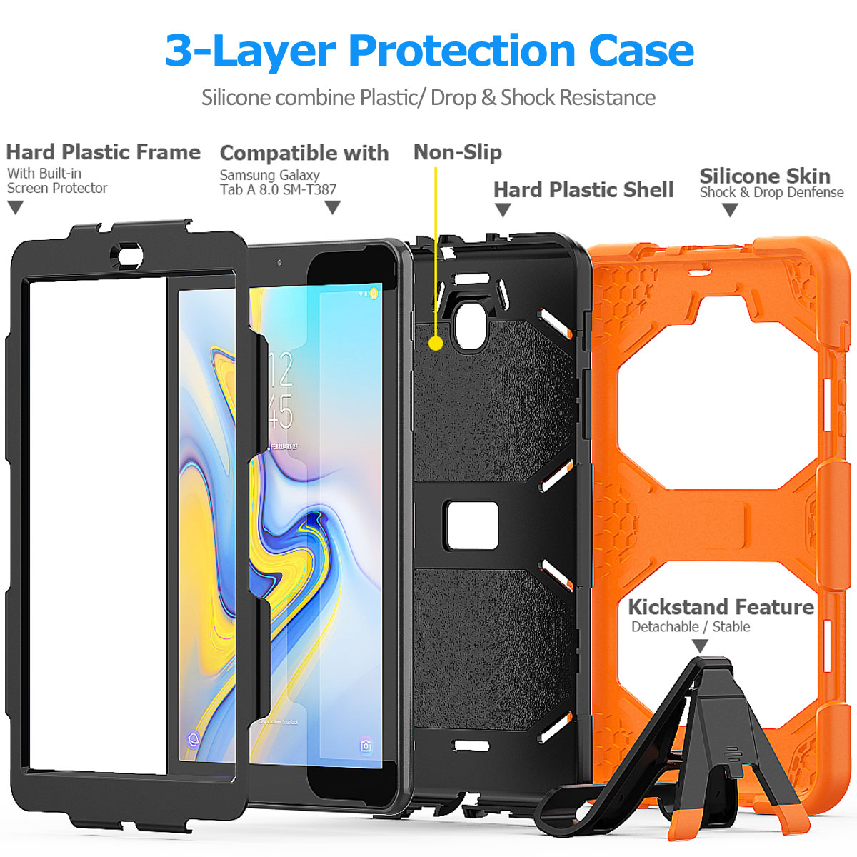 Rugged-Hard-Case-For-Samsung-Galaxy-Tab-A-8-0-2018-SM-T387-with-Screen-Protector thumbnail 42