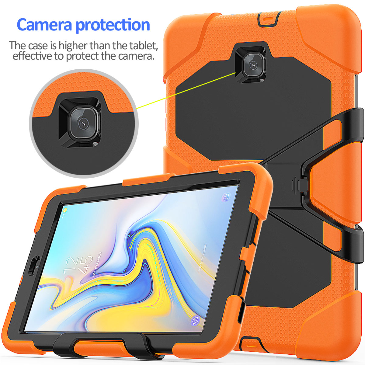 Rugged-Hard-Case-For-Samsung-Galaxy-Tab-A-8-0-2018-SM-T387-with-Screen-Protector thumbnail 44