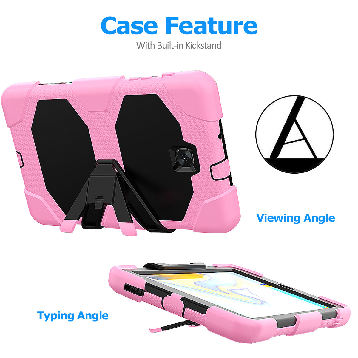 Rugged-Hard-Case-For-Samsung-Galaxy-Tab-A-8-0-2018-SM-T387-with-Screen-Protector thumbnail 50