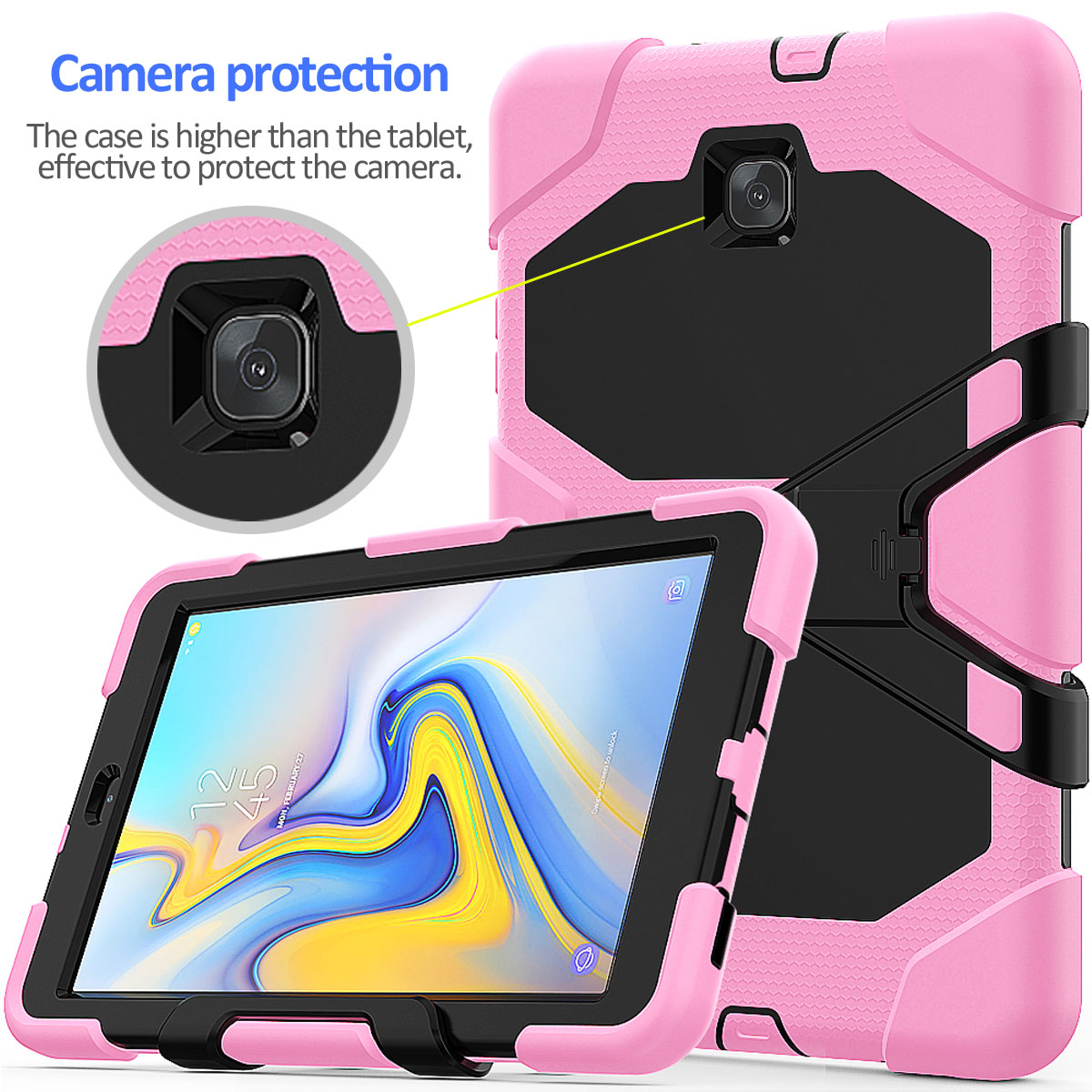 Rugged-Hard-Case-For-Samsung-Galaxy-Tab-A-8-0-2018-SM-T387-with-Screen-Protector thumbnail 51