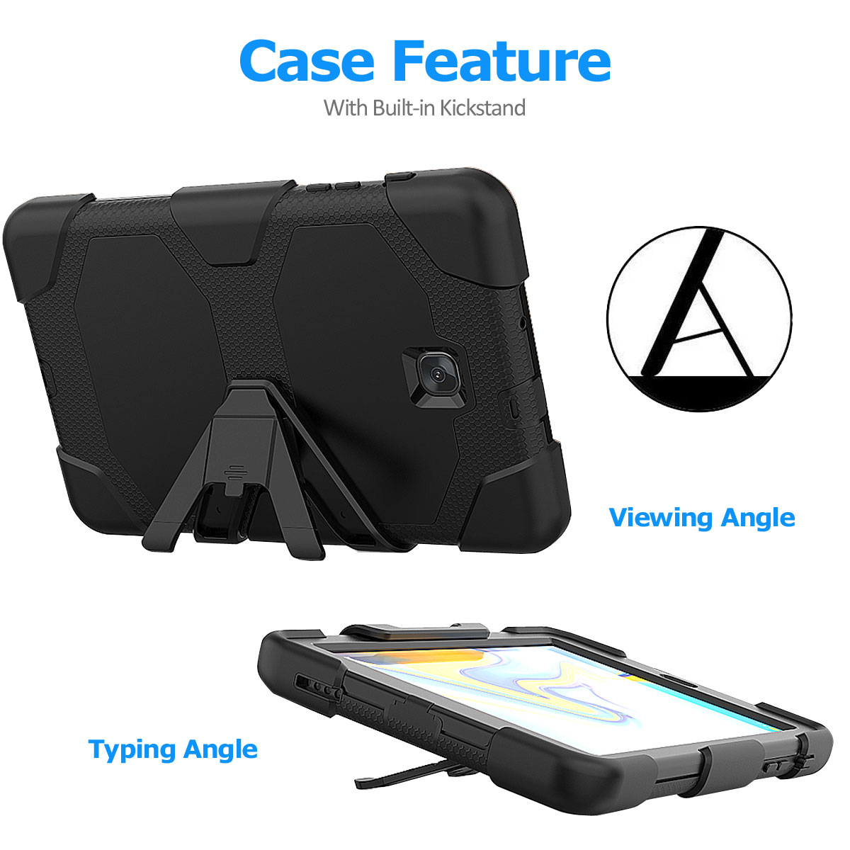 Rugged-Hard-Case-For-Samsung-Galaxy-Tab-A-8-0-2018-SM-T387-with-Screen-Protector thumbnail 57