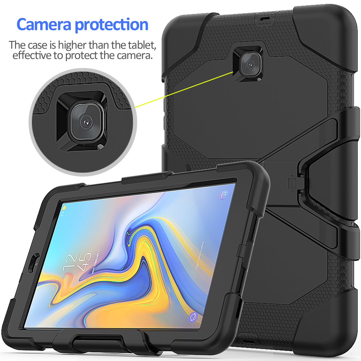 Rugged-Hard-Case-For-Samsung-Galaxy-Tab-A-8-0-2018-SM-T387-with-Screen-Protector thumbnail 58
