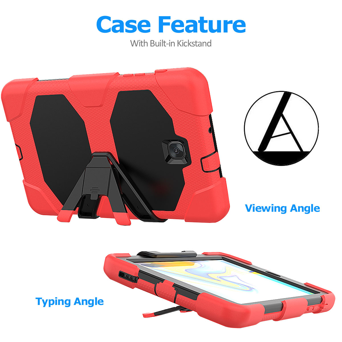 Rugged-Hard-Case-For-Samsung-Galaxy-Tab-A-8-0-2018-SM-T387-with-Screen-Protector thumbnail 64