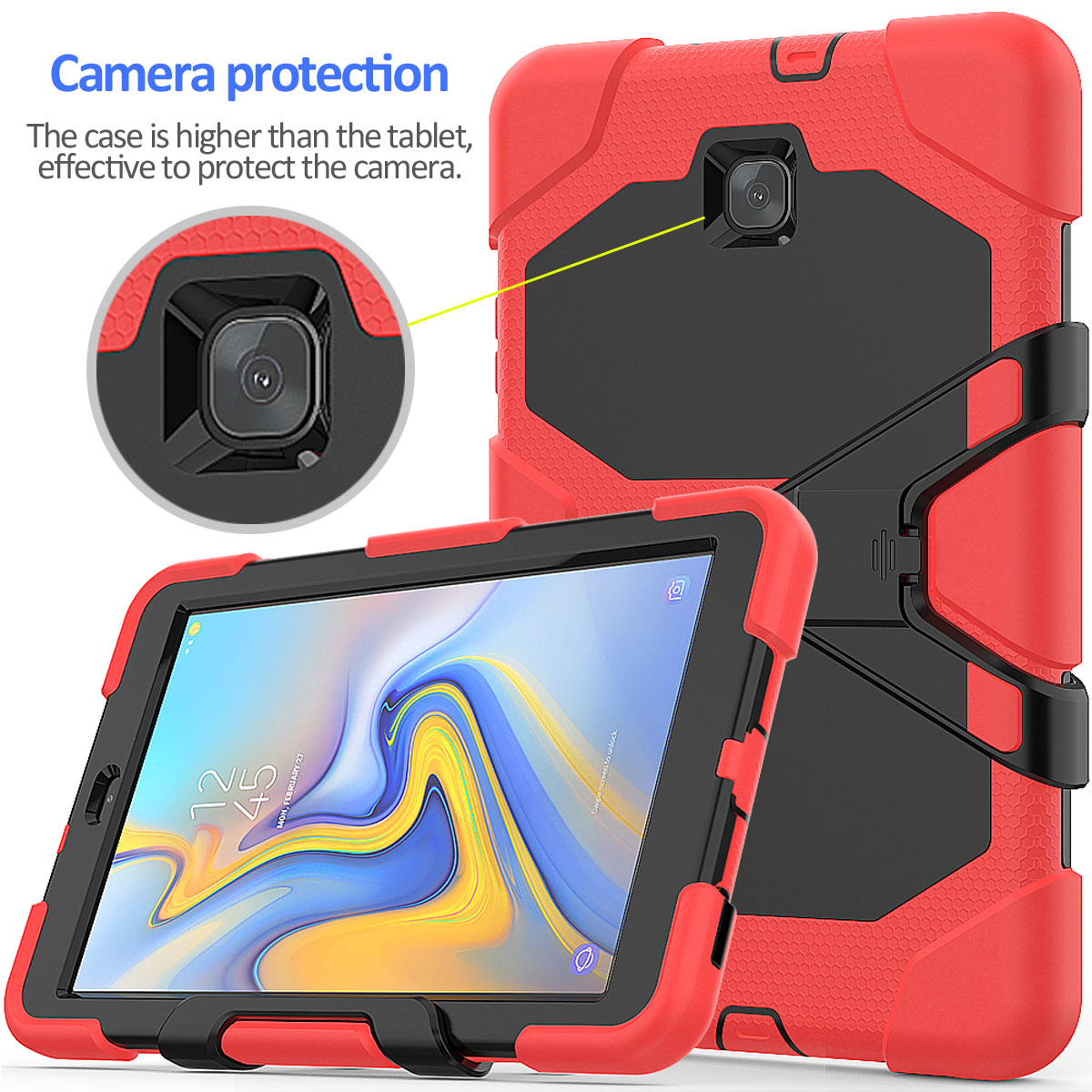 Rugged-Hard-Case-For-Samsung-Galaxy-Tab-A-8-0-2018-SM-T387-with-Screen-Protector thumbnail 65