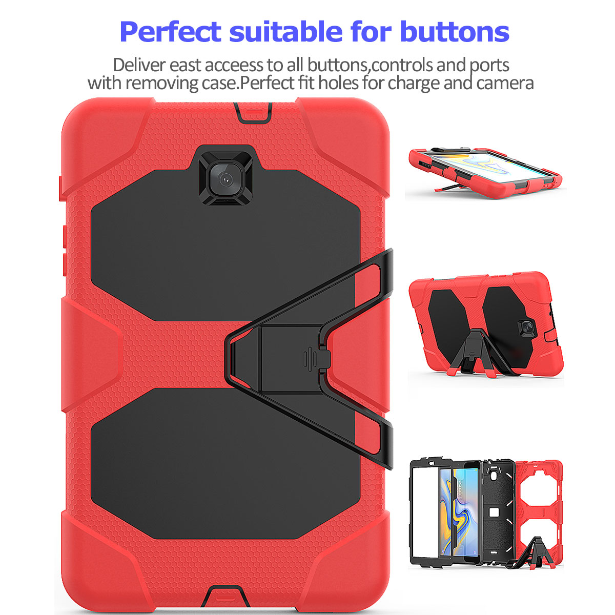 Rugged-Hard-Case-For-Samsung-Galaxy-Tab-A-8-0-2018-SM-T387-with-Screen-Protector thumbnail 67
