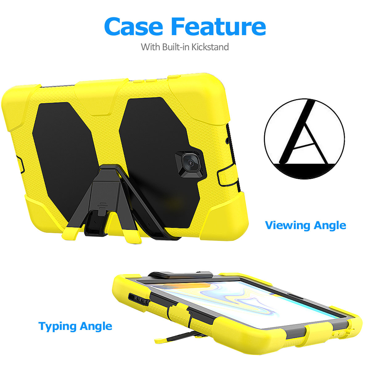 Rugged-Hard-Case-For-Samsung-Galaxy-Tab-A-8-0-2018-SM-T387-with-Screen-Protector thumbnail 71