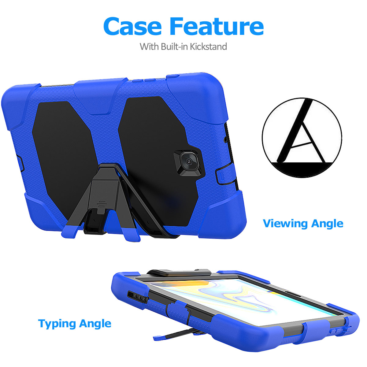 Rugged-Hard-Case-For-Samsung-Galaxy-Tab-A-8-0-2018-SM-T387-with-Screen-Protector thumbnail 78