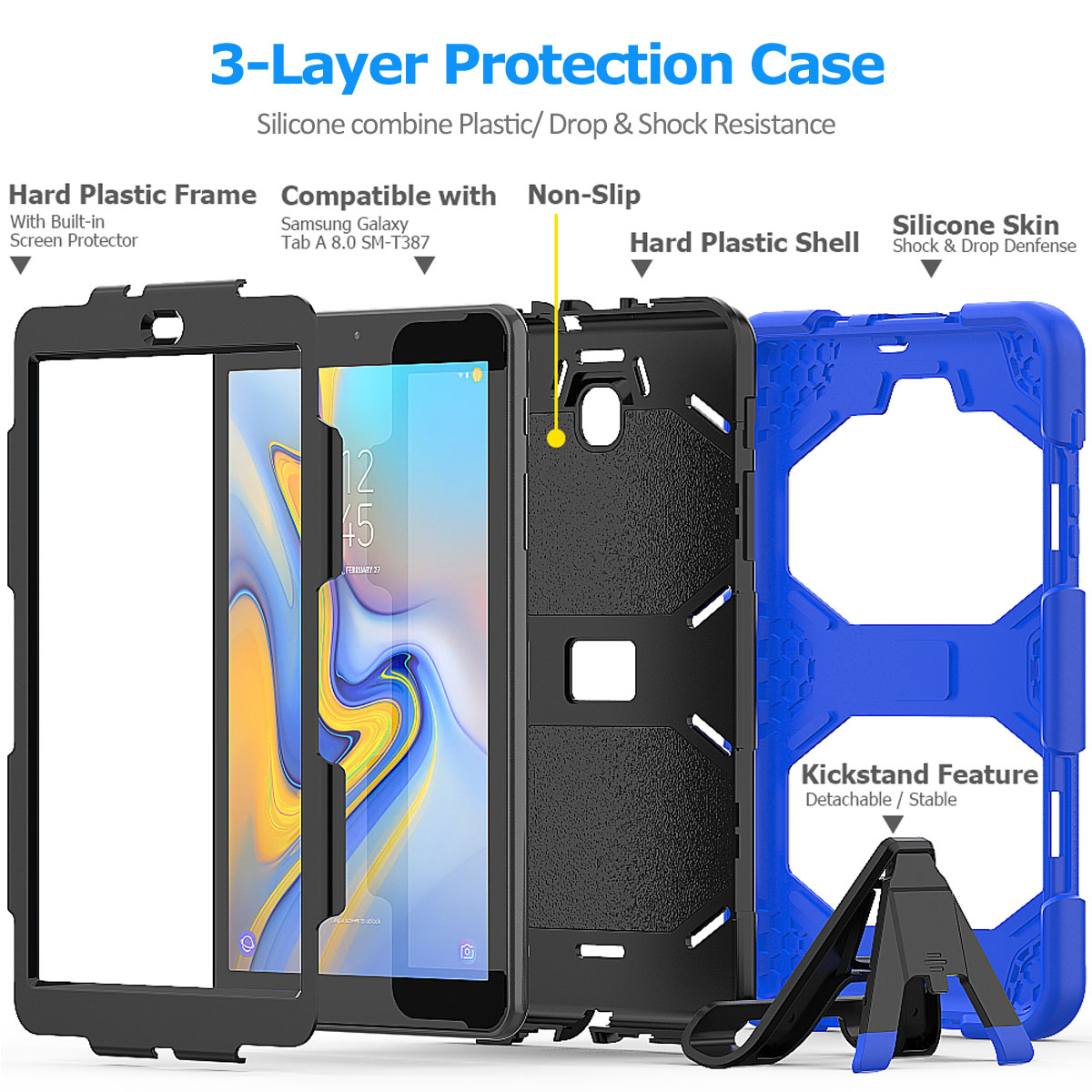 Rugged-Hard-Case-For-Samsung-Galaxy-Tab-A-8-0-2018-SM-T387-with-Screen-Protector thumbnail 77
